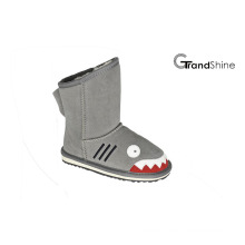 Kids New Arrival Shark Suede Snow Boots