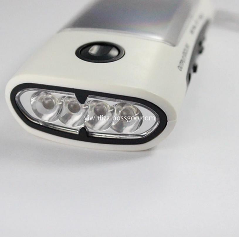 Portable outdoor wireless audio flashlight