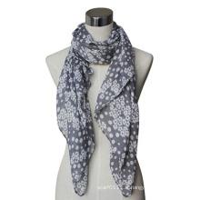 Écharpe imprimée tricotée par Lady Fashion coton / lin Voile (YKY4072)