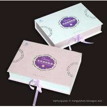 Boîte imprimée cosmétique pour les soins de la peau