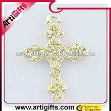 fashional crystal cross colgante