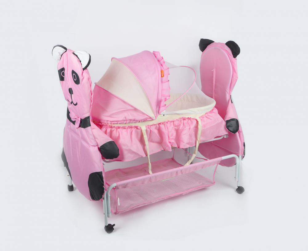 Adorable Panda Pattern Baby Cot and Cradle