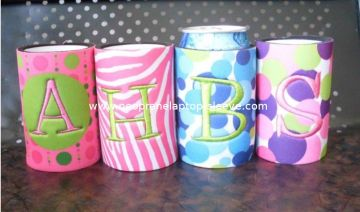 Custom 5mm Neoprene Can Cooler With Embroidered Koozie Can Wraps