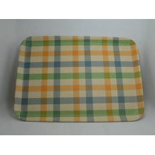 Bamboo Fiber Tableware Tray with Printed (BC-TP1003)