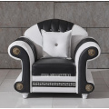 European Style Crystal Tufted Black Sofa combination