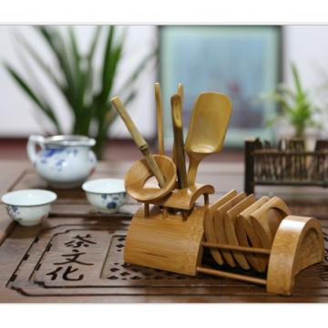 Service à thé en bambou