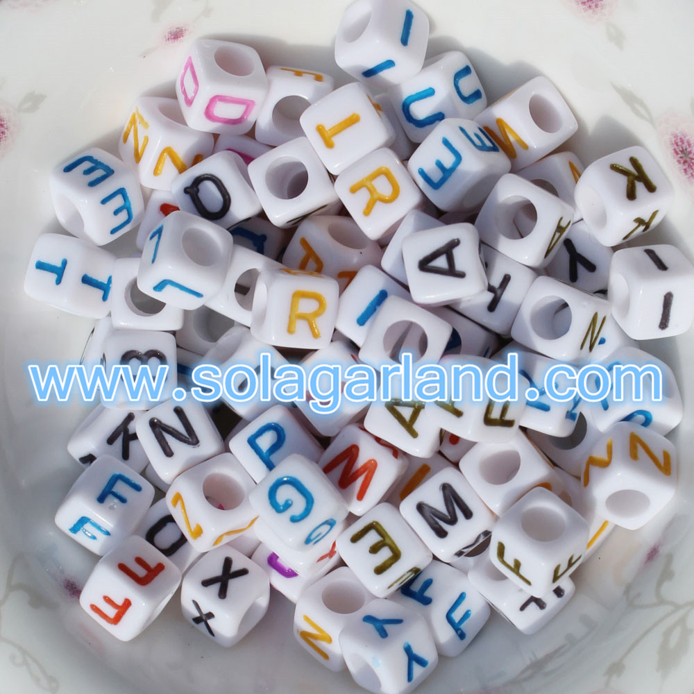 6MM Acrylic Alphabet Letter Beads