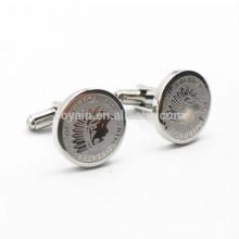 Boucles d'oreille de souvenir promotionnelles en métal à la forme ronde United States of America
