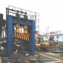 Máquina guilhotina hidráulica para reciclagem de cisalhamento de chapa de metal