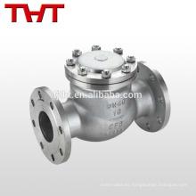 Válvula de retención de acero compacta api600 swing pn40 tipo swagelok precio
