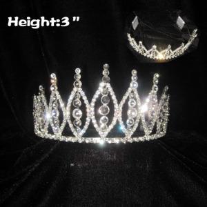 Todas las coronas y tiaras de concurso de cristal transparente