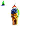 Mixed Colorful Glass Parrot Toys Hanging Ornament