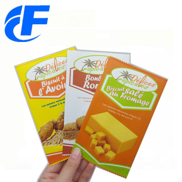 Aluminum foil plastic three side seal food pouch