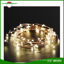 Los árboles de navidad decota la luz solar de la secuencia del alambre de cobre 100LED con la luz blanca / caliente blanca / colorida del LED para opcional
