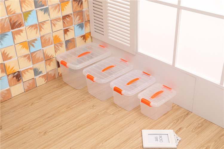 Plastic Storage Tote with Handle