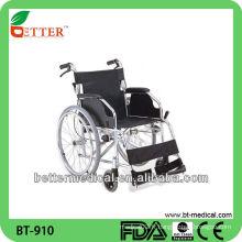 Chaise roulante pour patient en aluminium