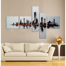 Panel de pared de arte en lienzo moderno con marco 5