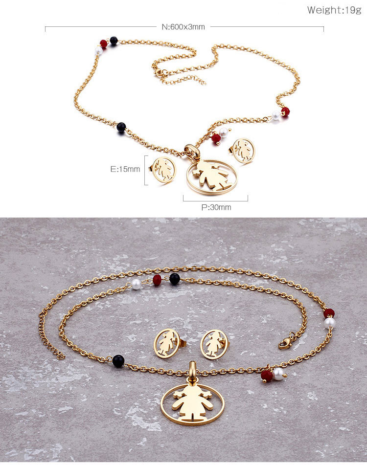 Luxury Necklace and Earring jewelry set women