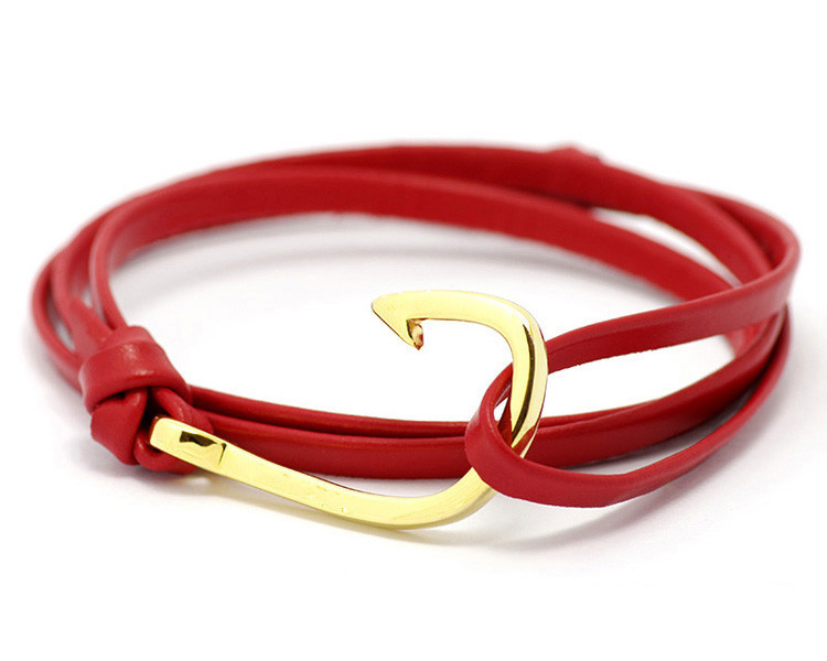 Handmade Hook Rope Leather Bracelet