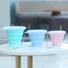 Tasse de tasse de café écologique réutilisable avec la représentation sans coût élevé de couvercle Bpa