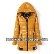 2015 new winter fashion yellow women down coat
