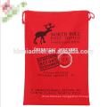 Christmas Sublimation Santa Sack Gift 100% Cotton Drawstring Christmas Bag