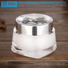 YJ-TA50 50g hot-selling novelty double layers 50g diamond crystal acrylic jar