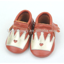 Hot selling cheap infant moccasins shoes cute pattems for baby shoes