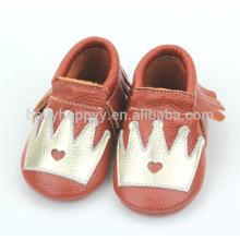 Горячие продавая дешевые младенческие мокасины ботинок милые pattems для ботинок младенца