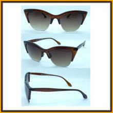 F15138 Nouveau Design demi-trame fantaisie femmes soleil lunettes rencontrer CE FDA UV400 (F15138)