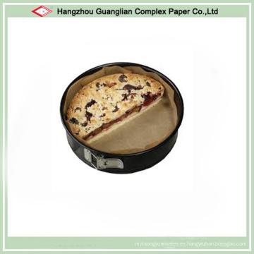 Círculos siliconizados antiadherentes de la torta de pergamino para cocinar Propósito