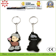 Anneau porte-clés PVC simple avec chaîne