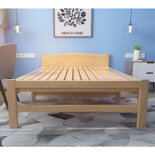 Practically modern extra solid wood bed furniture single folding guest bed