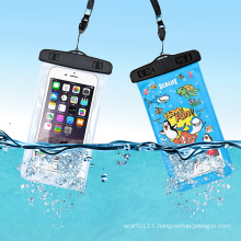 Funny Print PVC Waterproof Mobile Cell Phone Swimming Case (YKY7261)