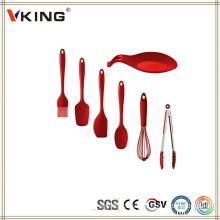 China Products Set de utensílios de cozinha colorido em silicone
