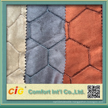 Fashion New Design Embroidery Micro Suede Bonded Faux Fur Fabrics