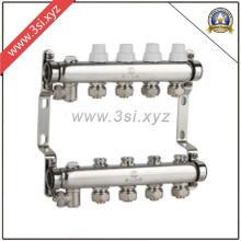 Hochwertiger Fußbodenheizungs-Wassersegregator mit Manometer (YZF-M807)