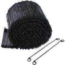 PVC Coated Wire Tie Double Loop Tie Wire Black Annealed Loop Tie Wire