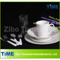 72PCS Fine Royal White Ceramics Porcelain Dinner Set