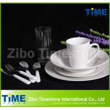 72PCS cerámica blanca fina cerámica de la cena de la porcelana