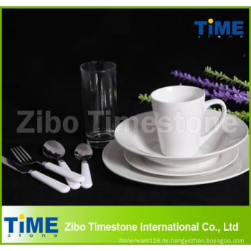 Feines königliches weißes Keramik-Porzellan-Abendessen-Satz 72PCS