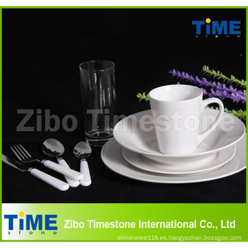 Juego de cenas de porcelana 72PCS Fine Royal White Ceramics