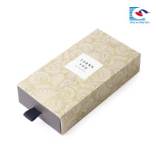 Simple black paper soap box for packaging corrugated paper box for travel soaps with slide drawer