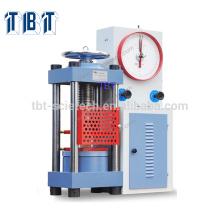 T-BOTA de buena calidad con Dial Gauge Concrete TYE-2000 Compression Testing Machine para hormigón