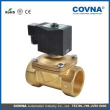 Electroválvula de vapor de émbolo de elevación directa 2 vías 24 V cerrado normal latón Válvula solenoide de 3/8 pulgadas