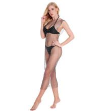Hot Selling Wholesale Woman Sexy Shiny Rehinstoned Diamond Fishnet Dress Clothes