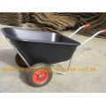 double wheel plastic tray wheelbarrow
