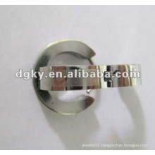 dongguan wholesale customized stainless steel Oil double earring gauge sizes