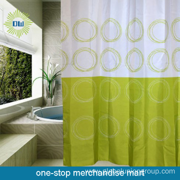 180*180cm Polyester Circle Shower Curtain