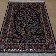 3'x4.5' Qom Persian Rug Tree of Life Tapestry